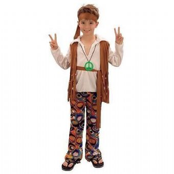 HIPPIE HIPPY 60'S 70'S BOYS FANCY DRESS COSTUME